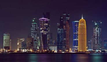 Vandens cityscapes miestai Doha City Center  HD wallpaper