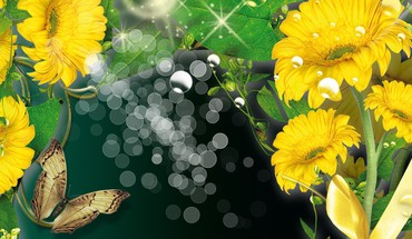 Golden garden gems HD wallpaper