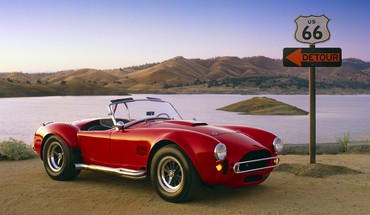 Cars route 66 ac cobra HD wallpaper