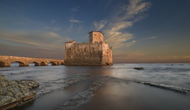 Castles seascapes HD wallpaper