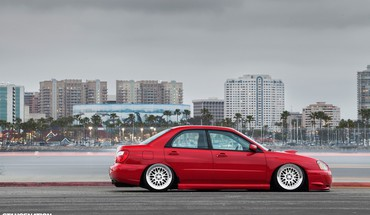 Cars tuning subaru impreza slammed HD wallpaper