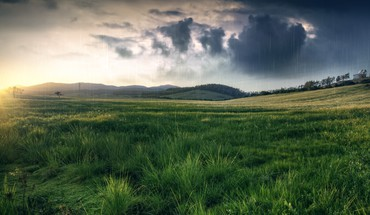 Fields grass green hills landscapes HD wallpaper