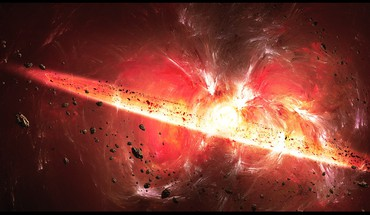 Big bang explosions outer space HD wallpaper