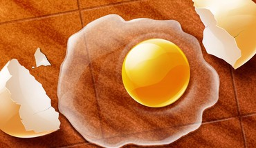 Eggs yellow 3d HD wallpaper