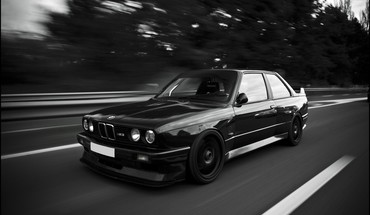 Bmw e30 m3 black and white HD wallpaper