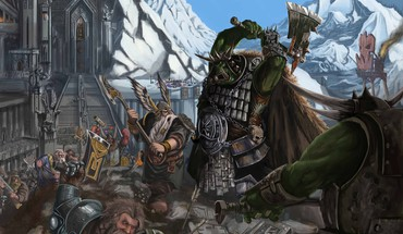 Nature warhammer artwork HD wallpaper