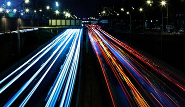 Lights highway cities HD wallpaper