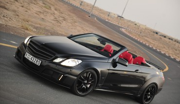 Brabus Mercedesbenz schwarzen Autos Cabrio  HD wallpaper