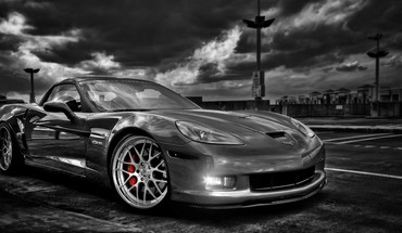 Black and white cars corvette chevy HD wallpaper