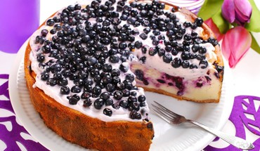 Blueberry cake HD wallpaper