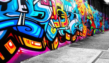 Abstrakte Stadtbild Graffiti  HD wallpaper