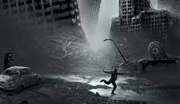 Apocalyptic romantisch Photomanipulation vitaly s alexius Städte  HD wallpaper