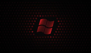 Red windows 7 microsoft logo 8 HD wallpaper
