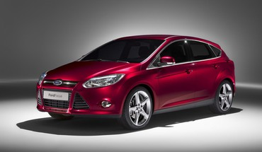 Ford Focus automobilių raudona  HD wallpaper