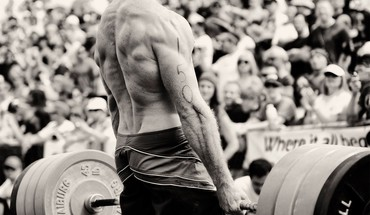 Monochrome sports weight lifting HD wallpaper