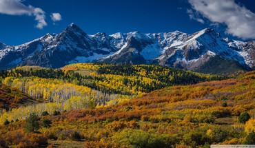 Wonderful mountain landscape in aspen HD wallpaper