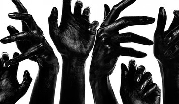 Dark hands grayscale dev HD wallpaper