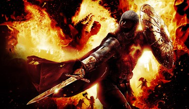 Dragons dogma fire video games warriors HD wallpaper