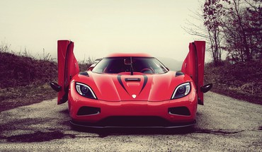 Forest cars koenigsegg roads vehicles agera r HD wallpaper