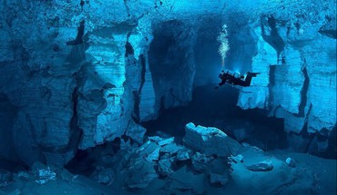 Landscapes cave russia underwater HD wallpaper