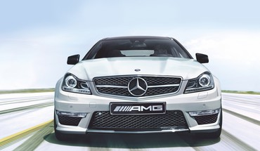 Automobiliai MERCEDES BENZ C63 AMG  HD wallpaper