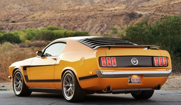 Vehicles mustang car fastback rear angle view HD wallpaper
