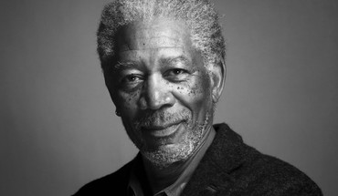 Black and white grayscale actors morgan freeman HD wallpaper