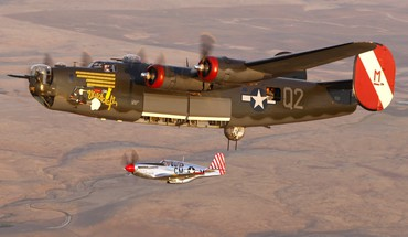 B 24 liberator and p 51 mustang HD wallpaper