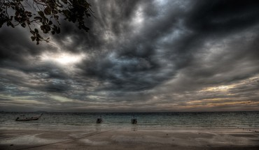Hdr photography beaches clouds ocean sea HD wallpaper