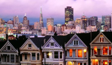 California san francisco cityscapes dusk HD wallpaper