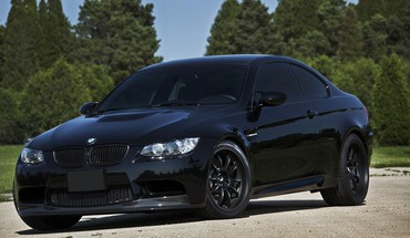 Bmw m3 germany black cars nature HD wallpaper