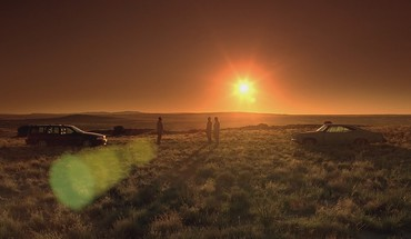 Sunset lens flare volvo breaking bad evening HD wallpaper