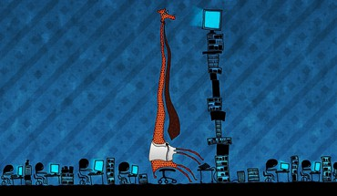 Tie funny office artwork drawings screens giraffe HD wallpaper
