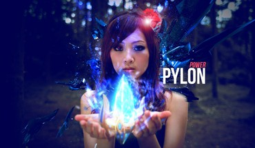 Kaijie game pylon photo manipulations asian girl HD wallpaper