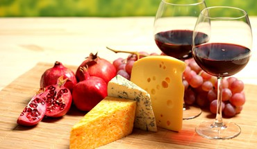 Wine cheese fruits HD wallpaper