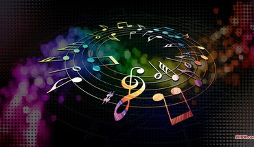 Colors dial multicolor music musical notes HD wallpaper