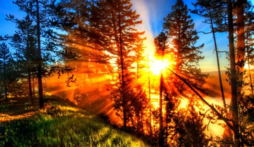 Fiery Sunbeams  HD wallpaper