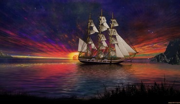 Ships artwork HD wallpaper
