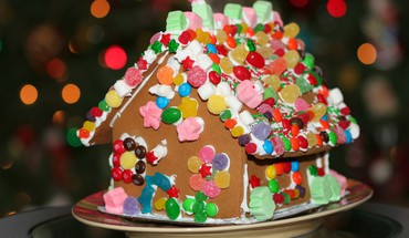 vacances Gingerbread House  HD wallpaper