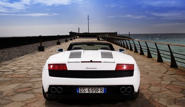 Lamborghini gallardo cars piers HD wallpaper