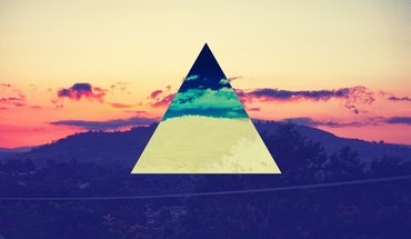 Artwork colors triangles HD wallpaper