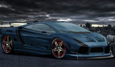 Cars tuning lamborghini gallardo 3d HD wallpaper
