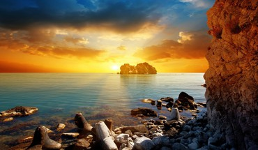 Cool ocean sunset HD wallpaper