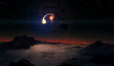 Black hole scene HD wallpaper