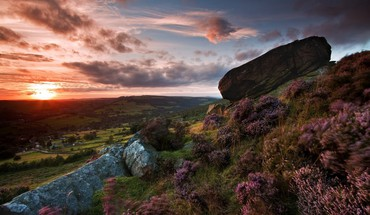 Sunrise clouds landscapes nature cityscapes england grass HD wallpaper