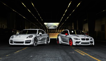 Bmw porsche cars HD wallpaper