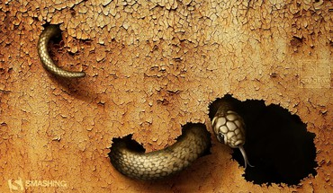 Earth snakes digital art reptiles july land cracked HD wallpaper