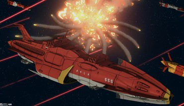 Space battleship yamato battles explosions outer ships HD wallpaper