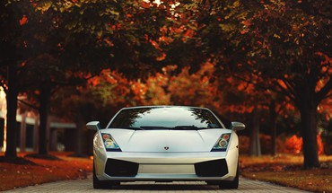 Lamborghini gallardo autumn cars leaves vehicles HD wallpaper