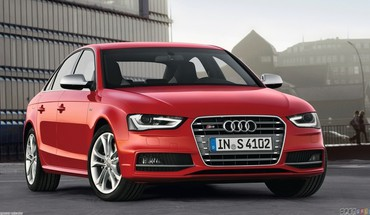 Red cars audi 2013 HD wallpaper